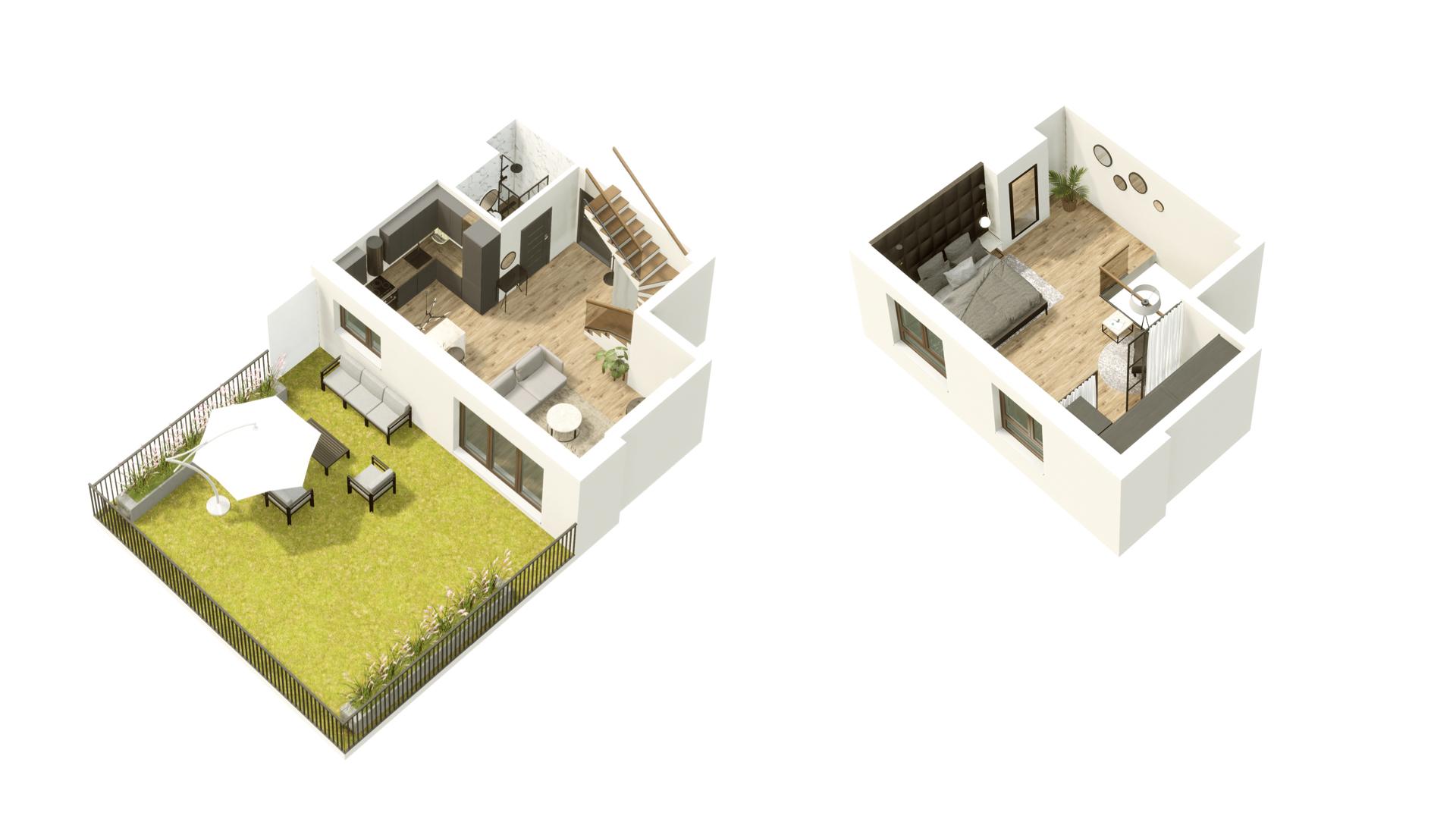 GARDINO PARK Mieszkanie 1 3D