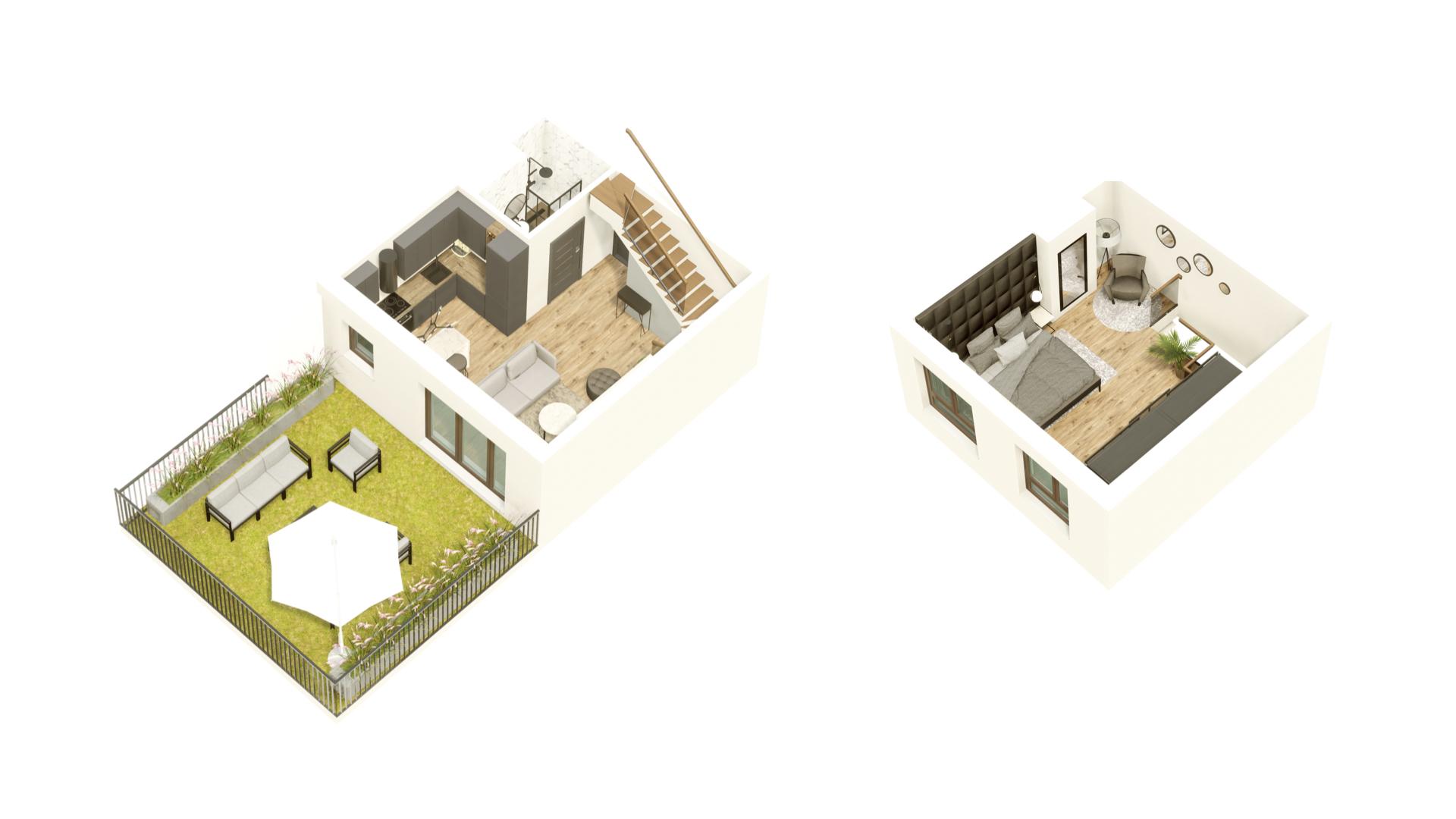 GARDINO PARK Mieszkanie 22 3D