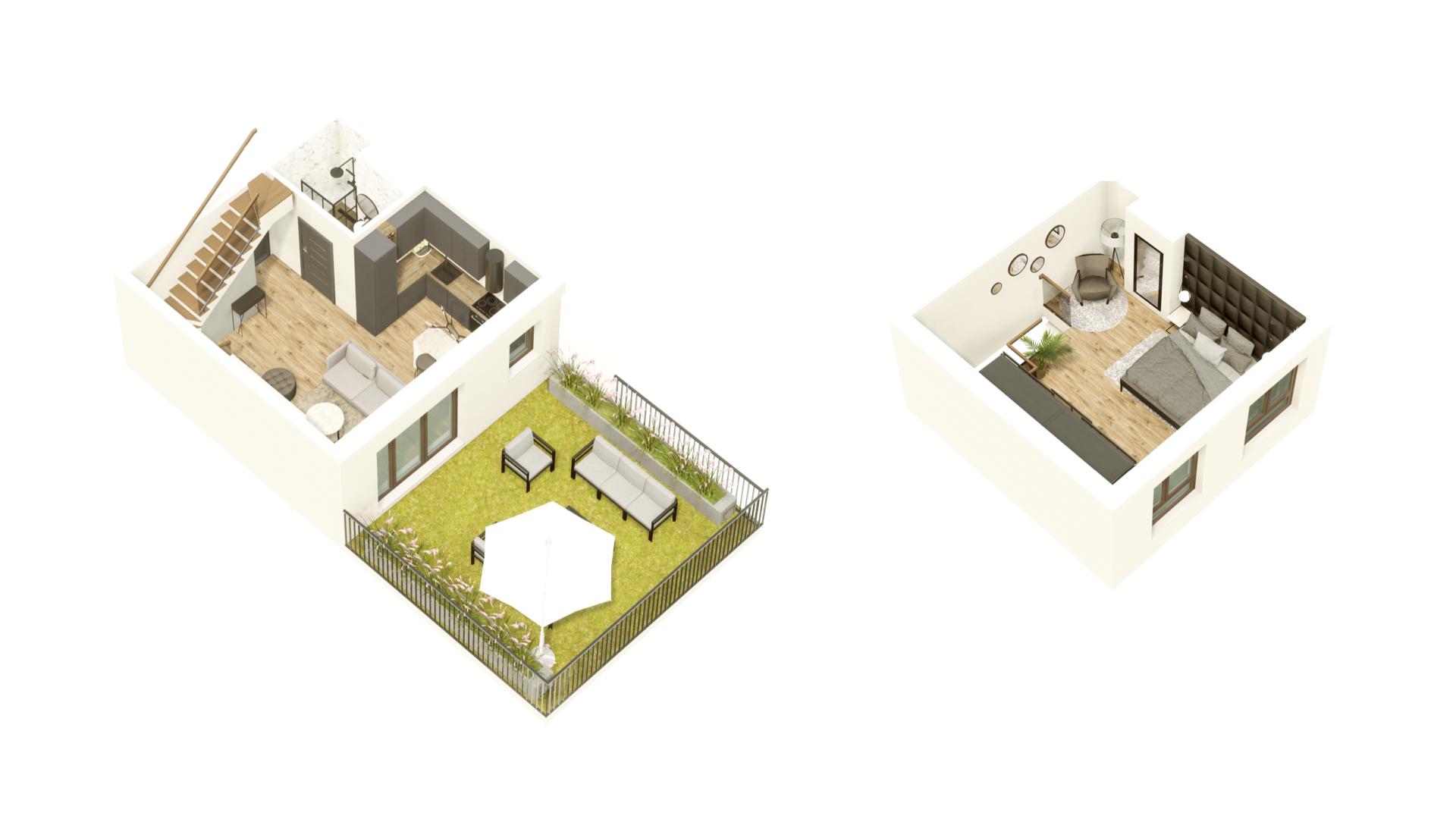 GARDINO PARK Mieszkanie 23 3D