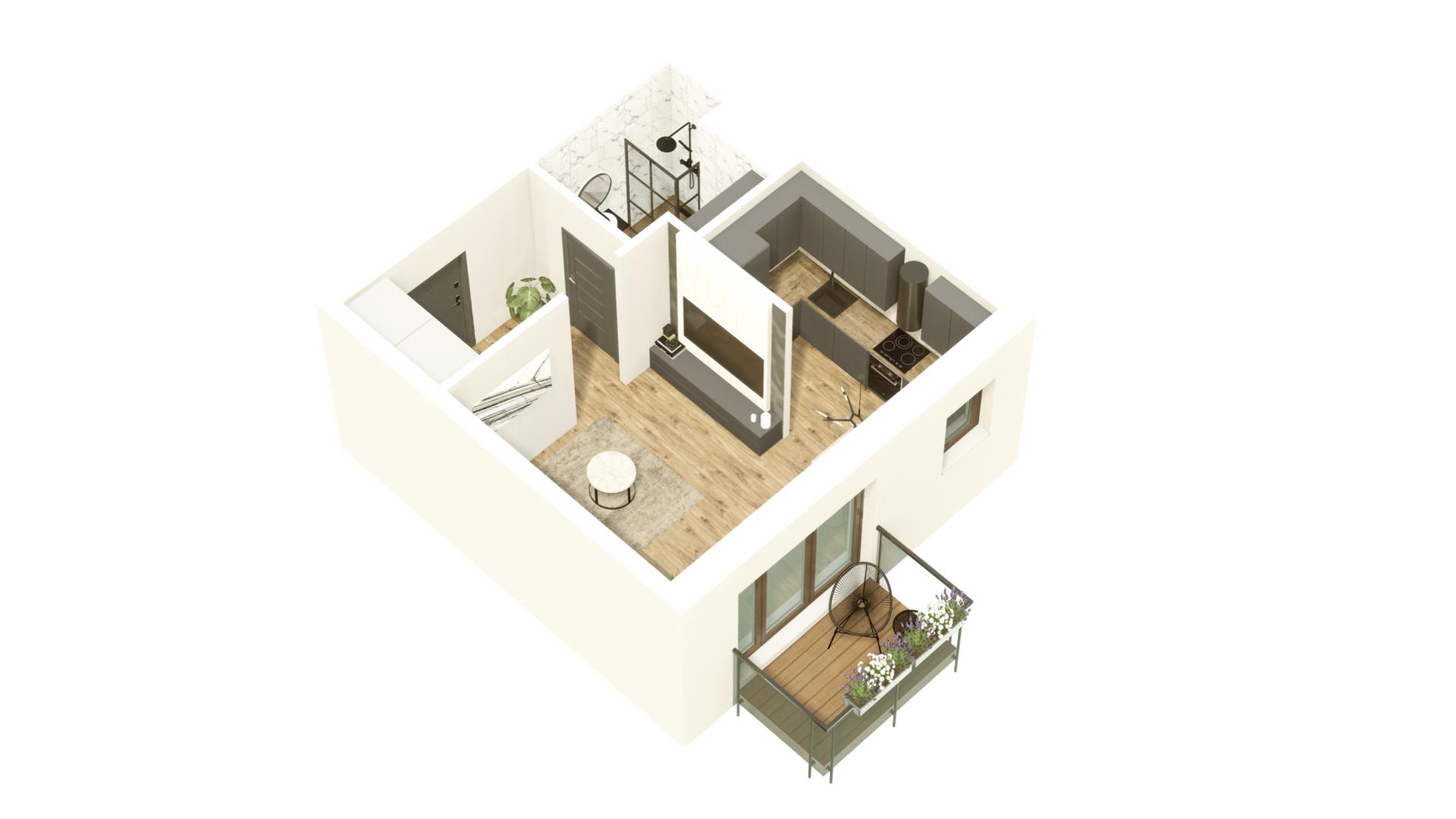 GARDINO PARK Mieszkanie 25 3D