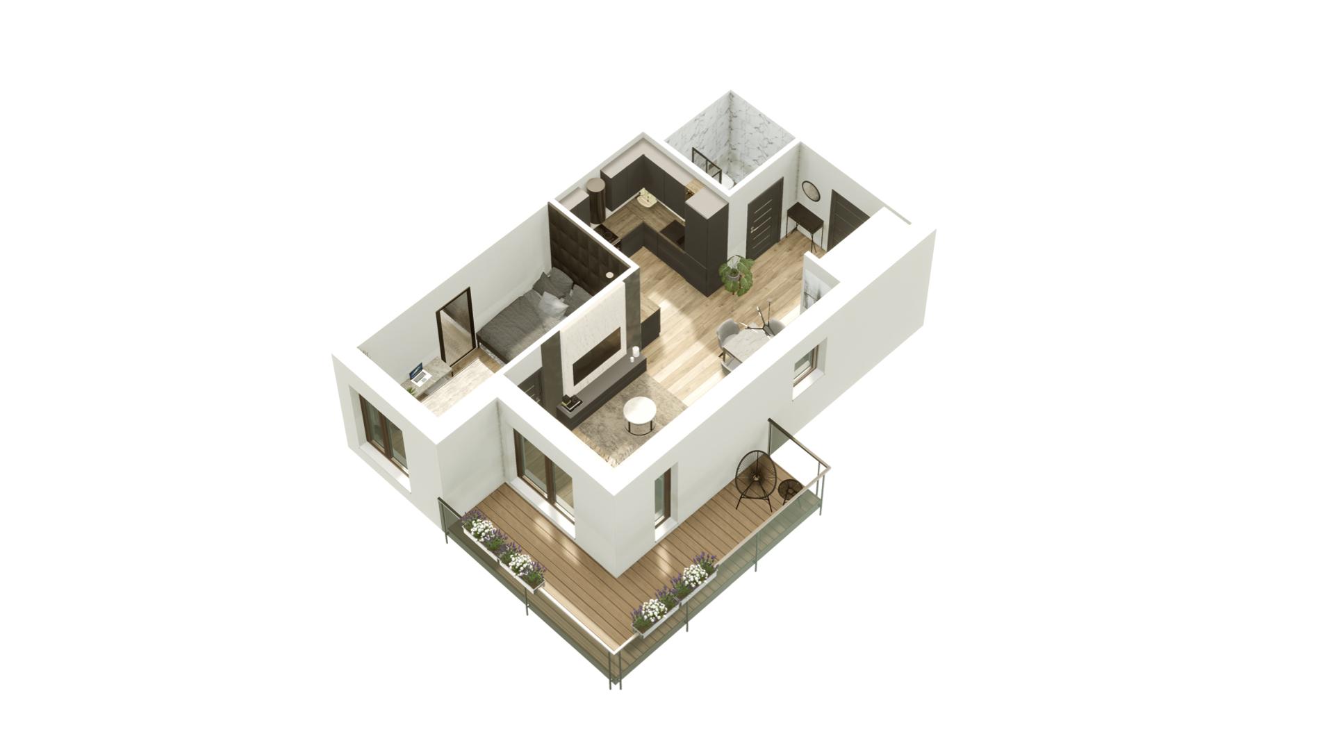 GARDINO PARK Mieszkanie 26 3D