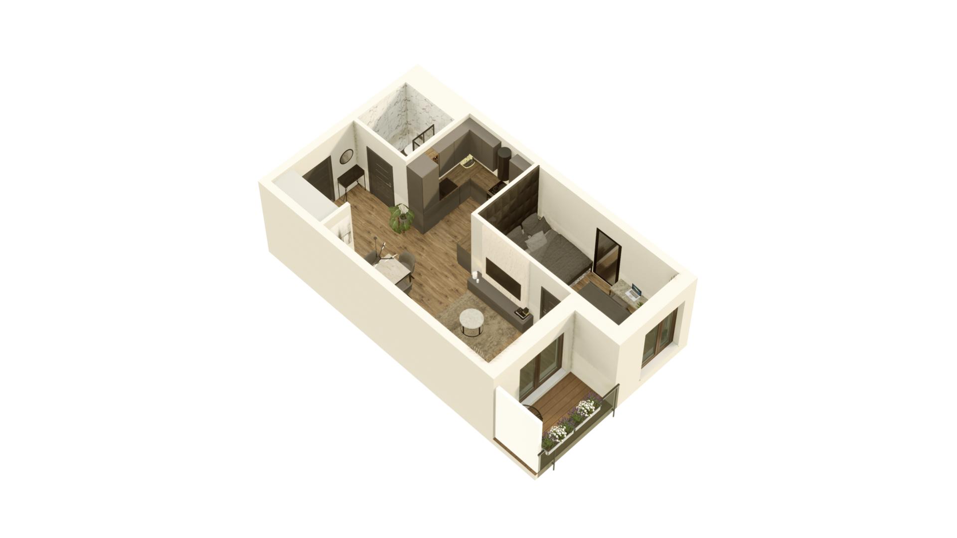 GARDINO PARK Mieszkanie 27 3D