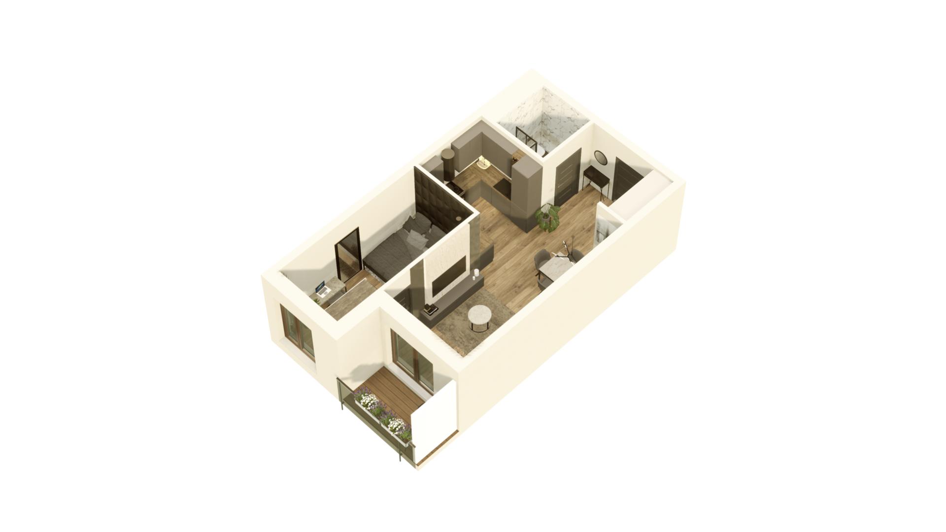 GARDINO PARK Mieszkanie 28 3D