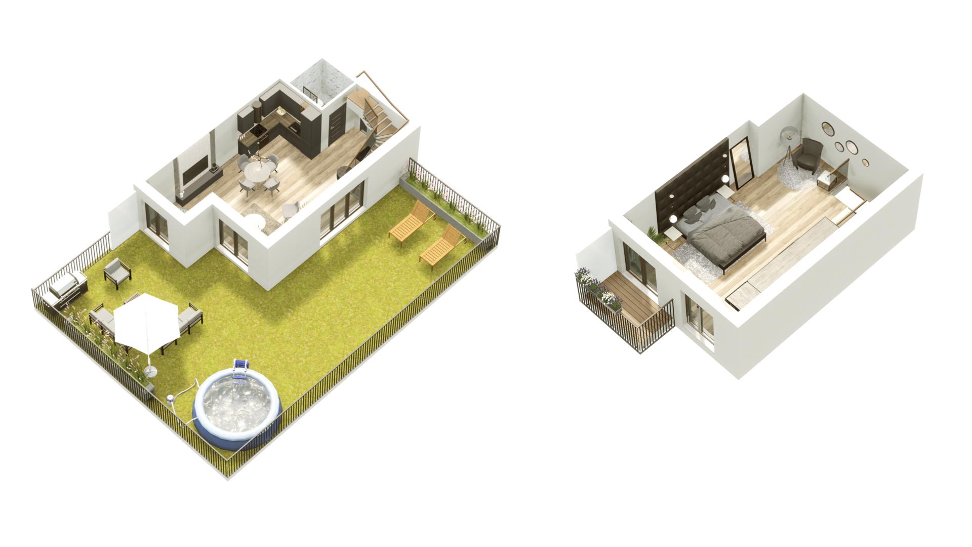 GARDINO PARK Mieszkanie 3 3D