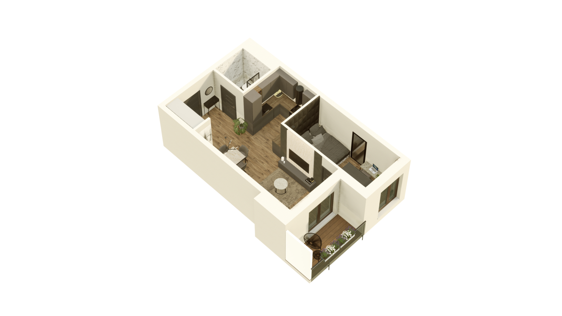 GARDINO PARK Mieszkanie 31 3D