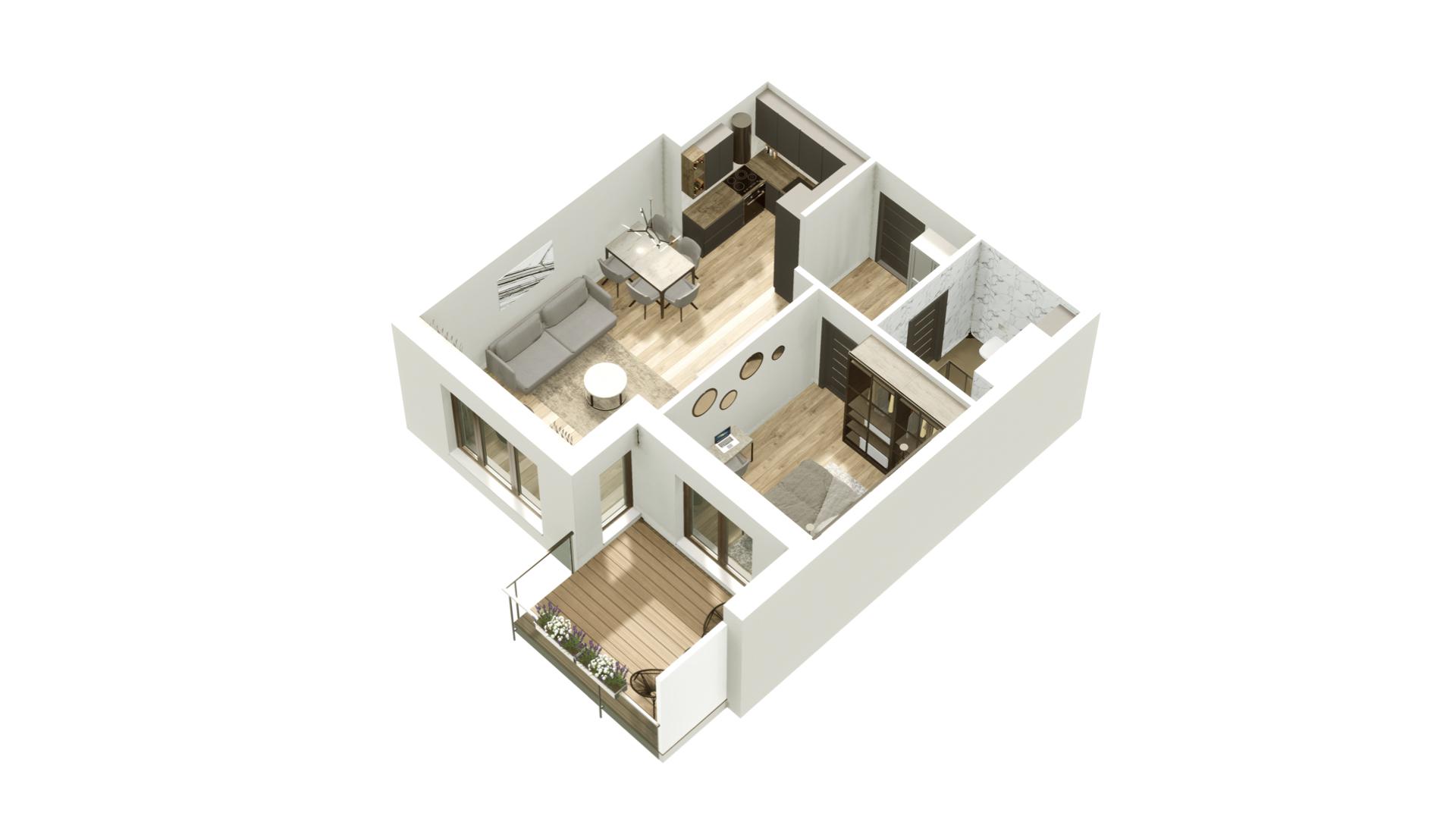 GARDINO PARK Mieszkanie 32 3D