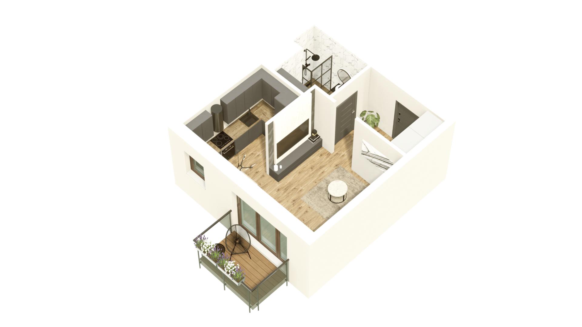 GARDINO PARK Mieszkanie 36 3D