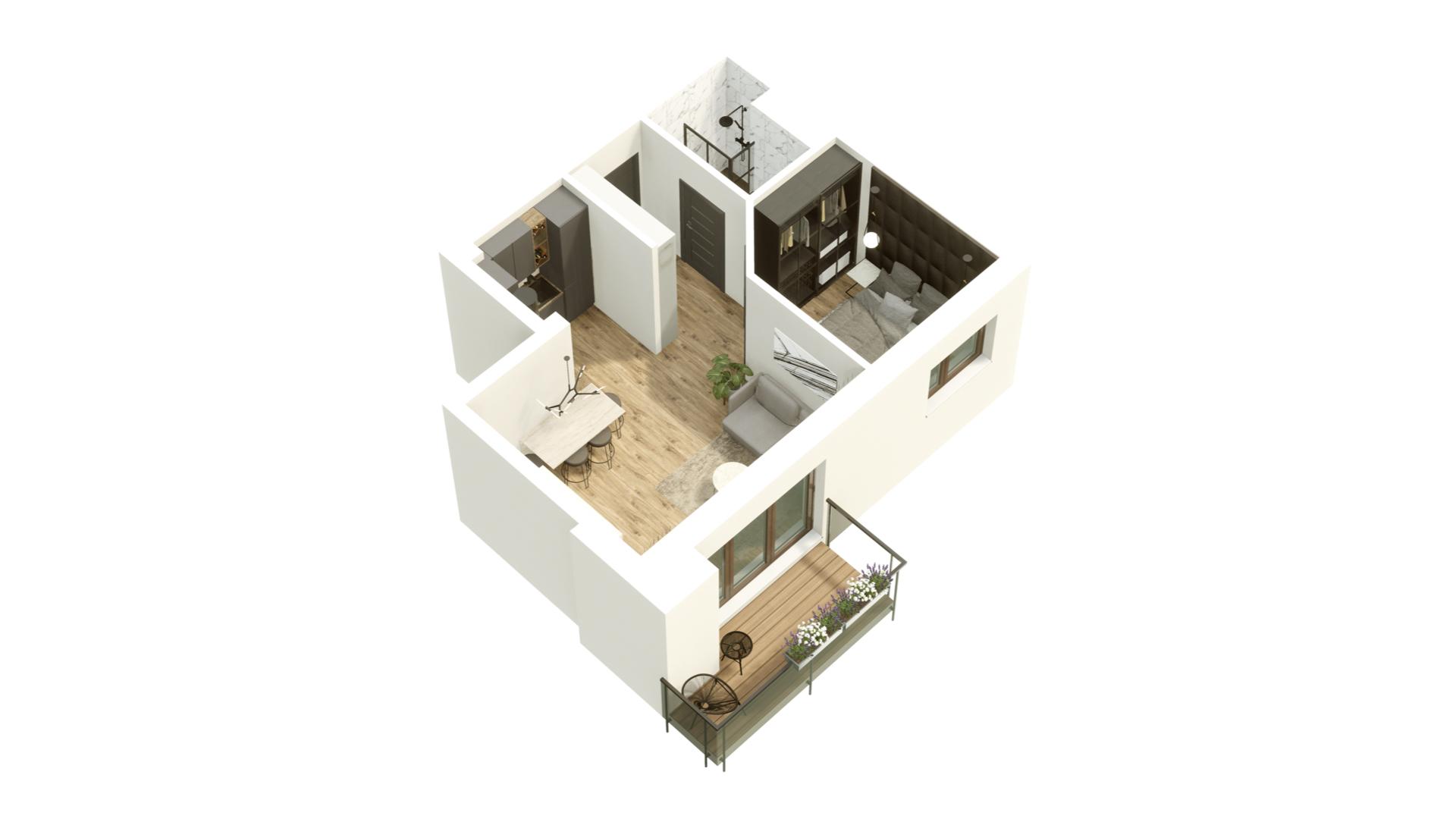 GARDINO PARK Mieszkanie 37 3D