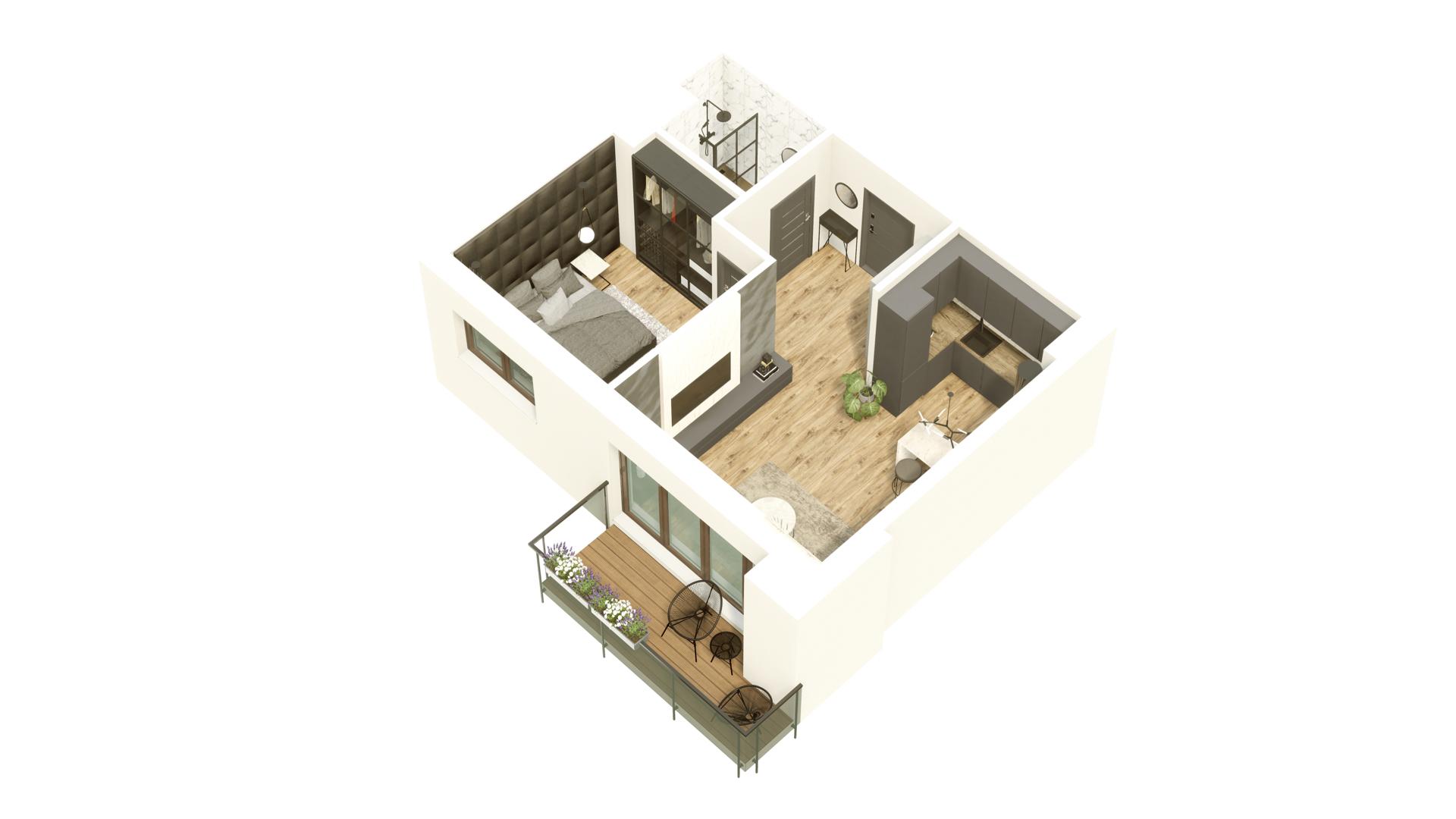 GARDINO PARK Mieszkanie 38 3D