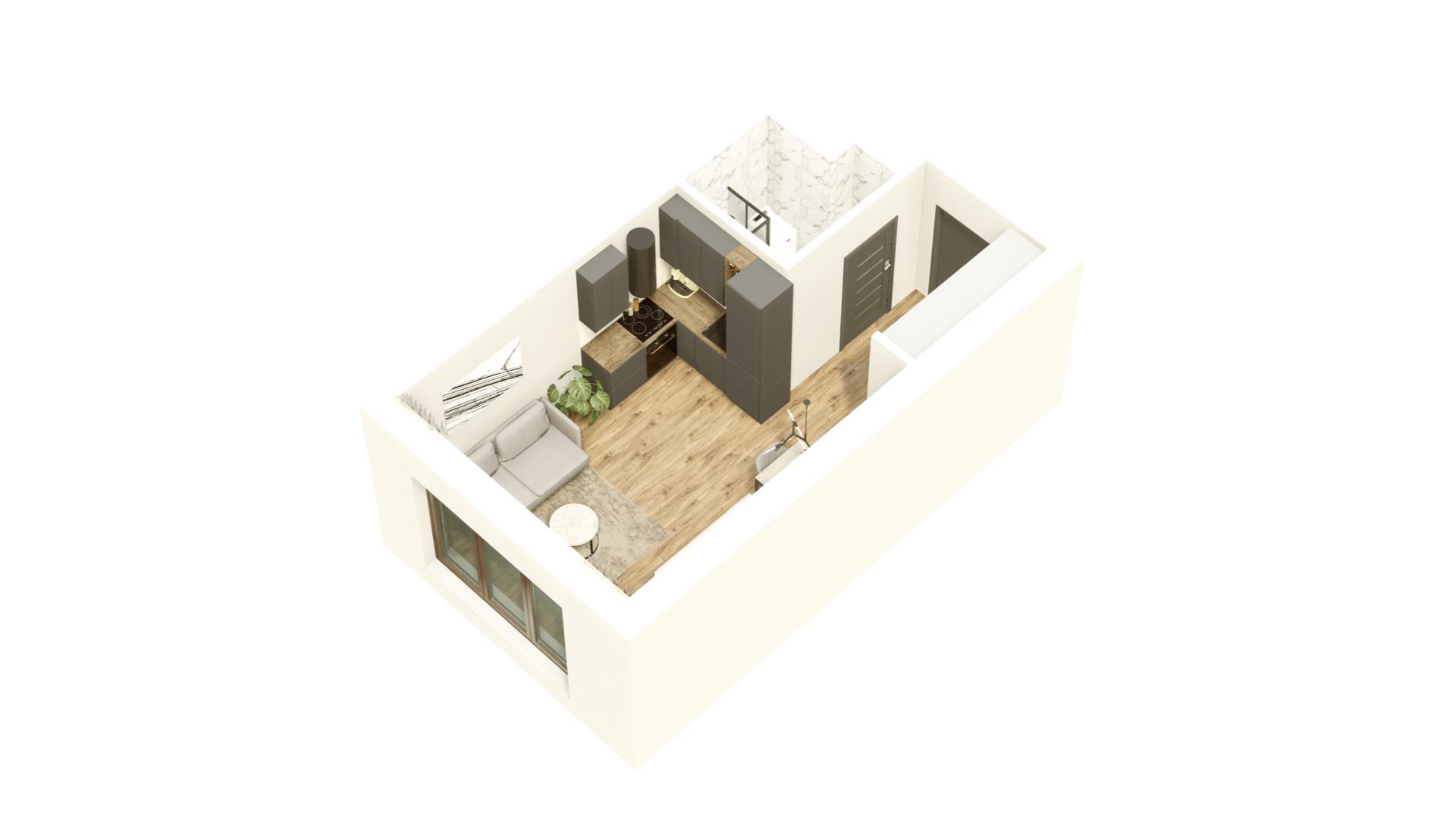 GARDINO PARK Mieszkanie 40 3D