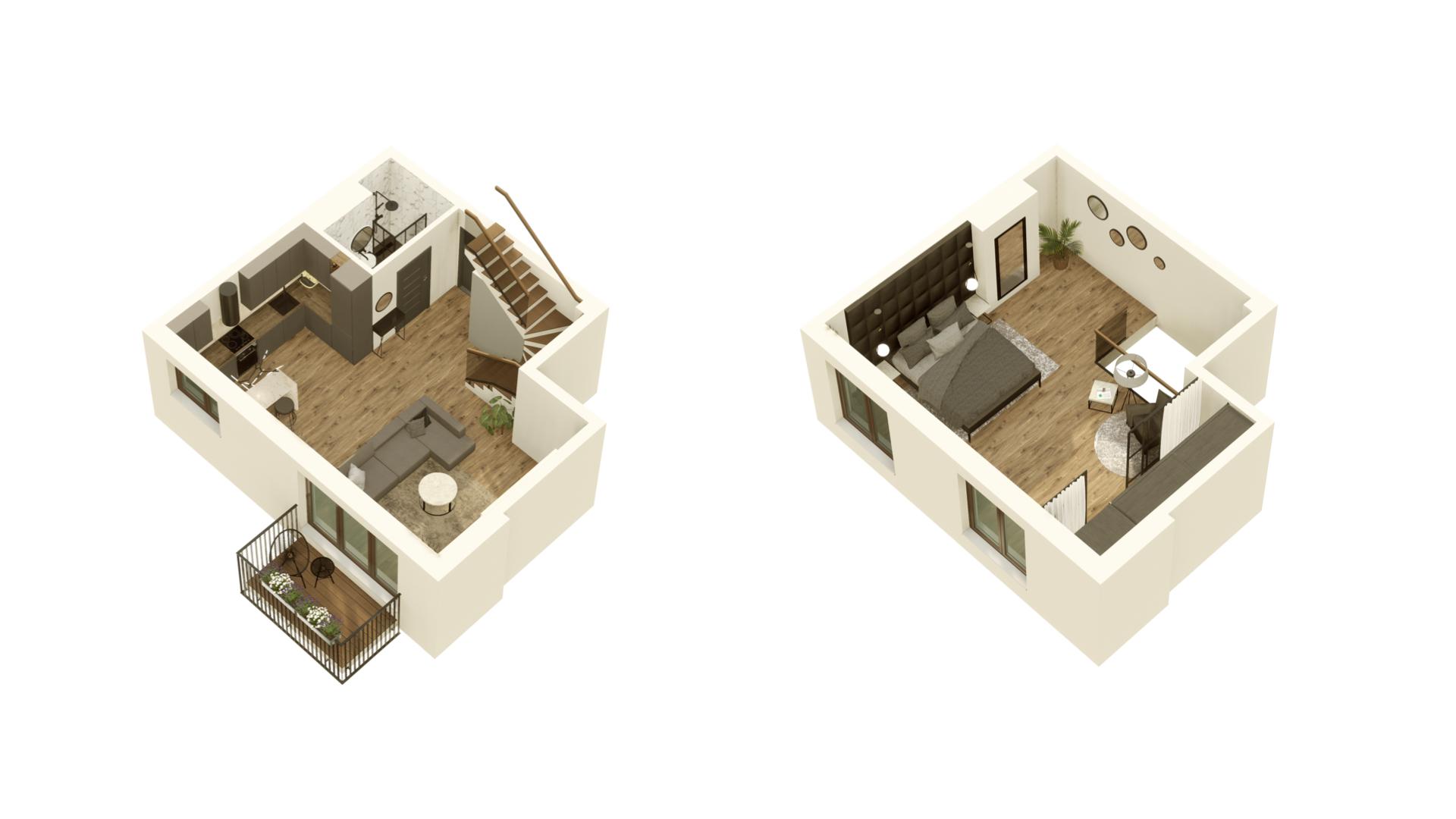 GARDINO PARK Mieszkanie 43 3D