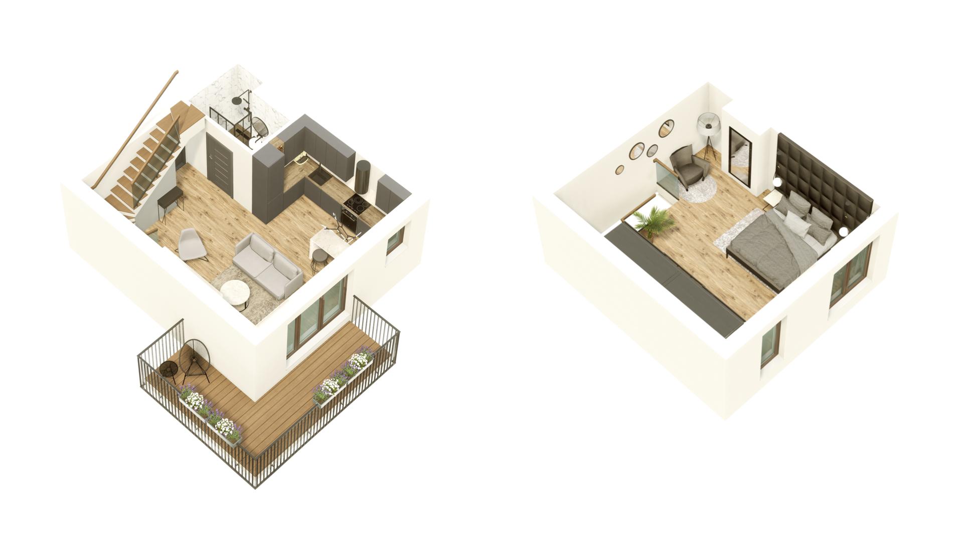 GARDINO PARK Mieszkanie 44 3D