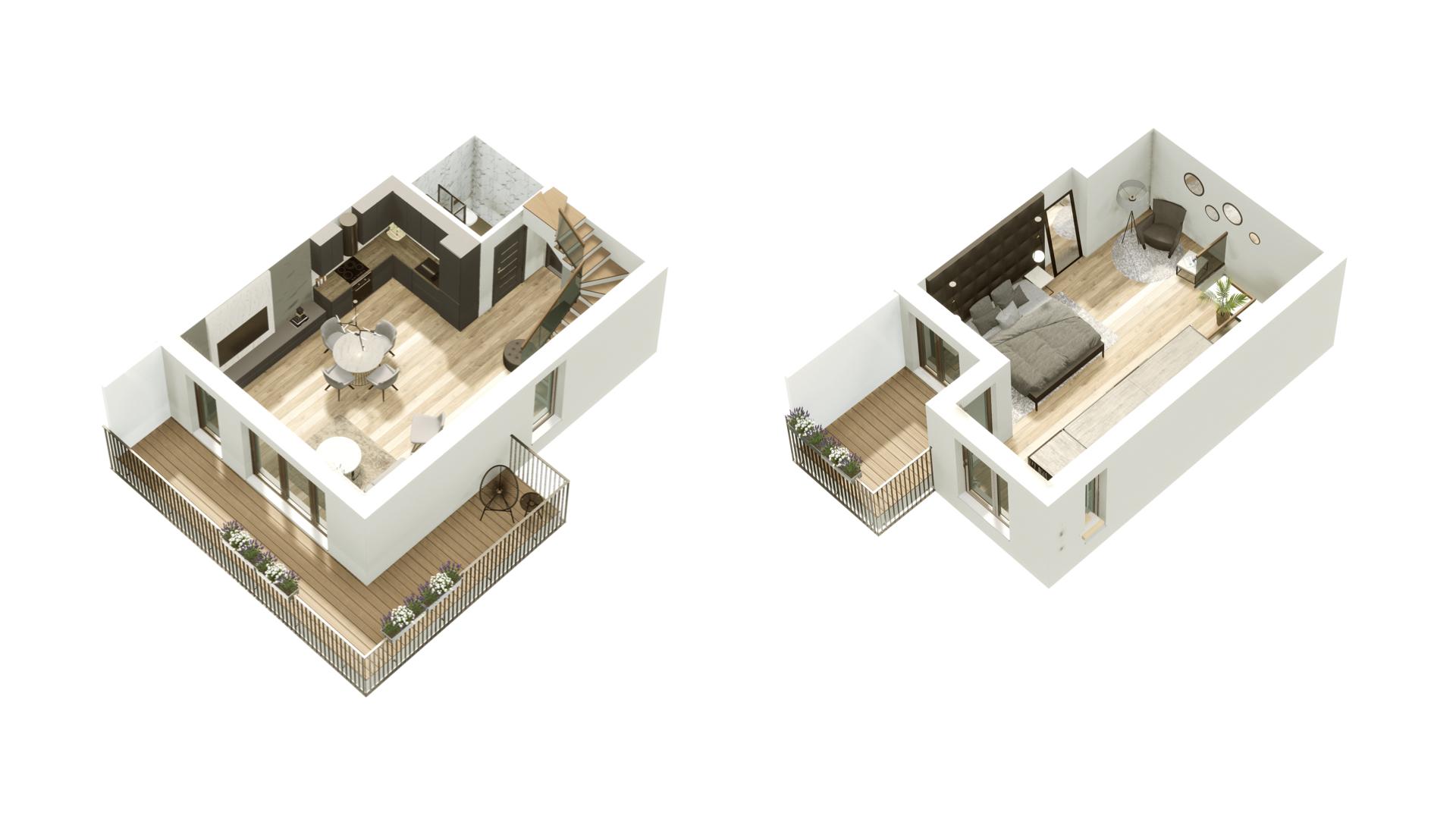 GARDINO PARK Mieszkanie 45 3D