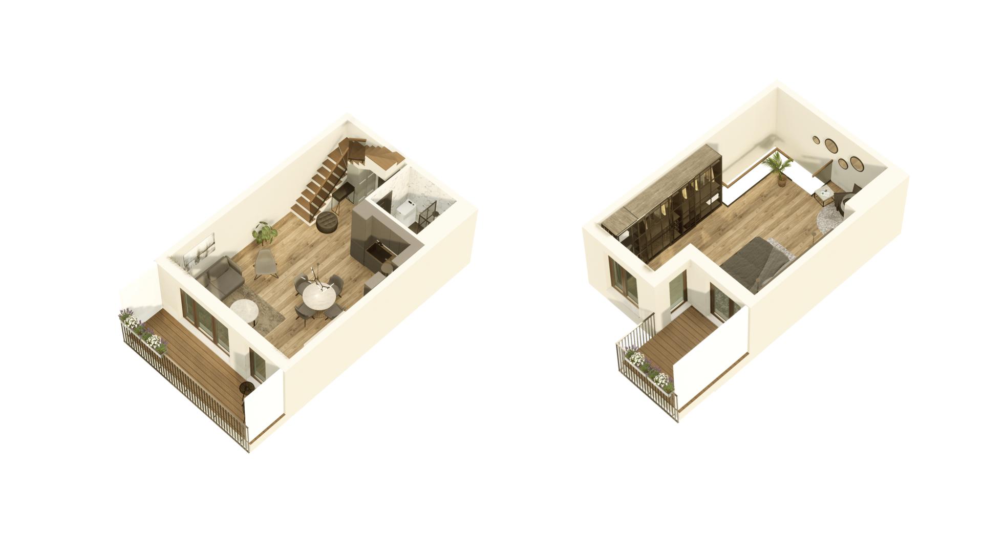 GARDINO PARK Mieszkanie 46 3D