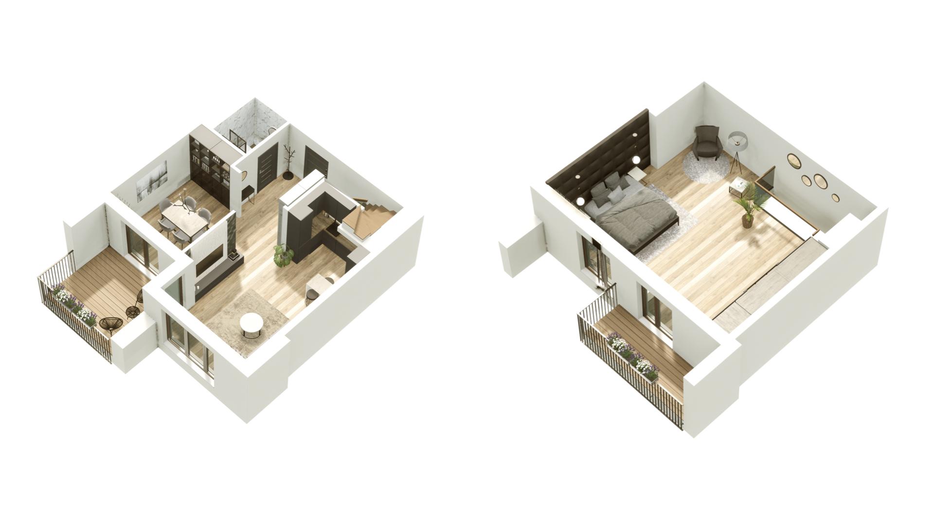 GARDINO PARK Mieszkanie 51 3D