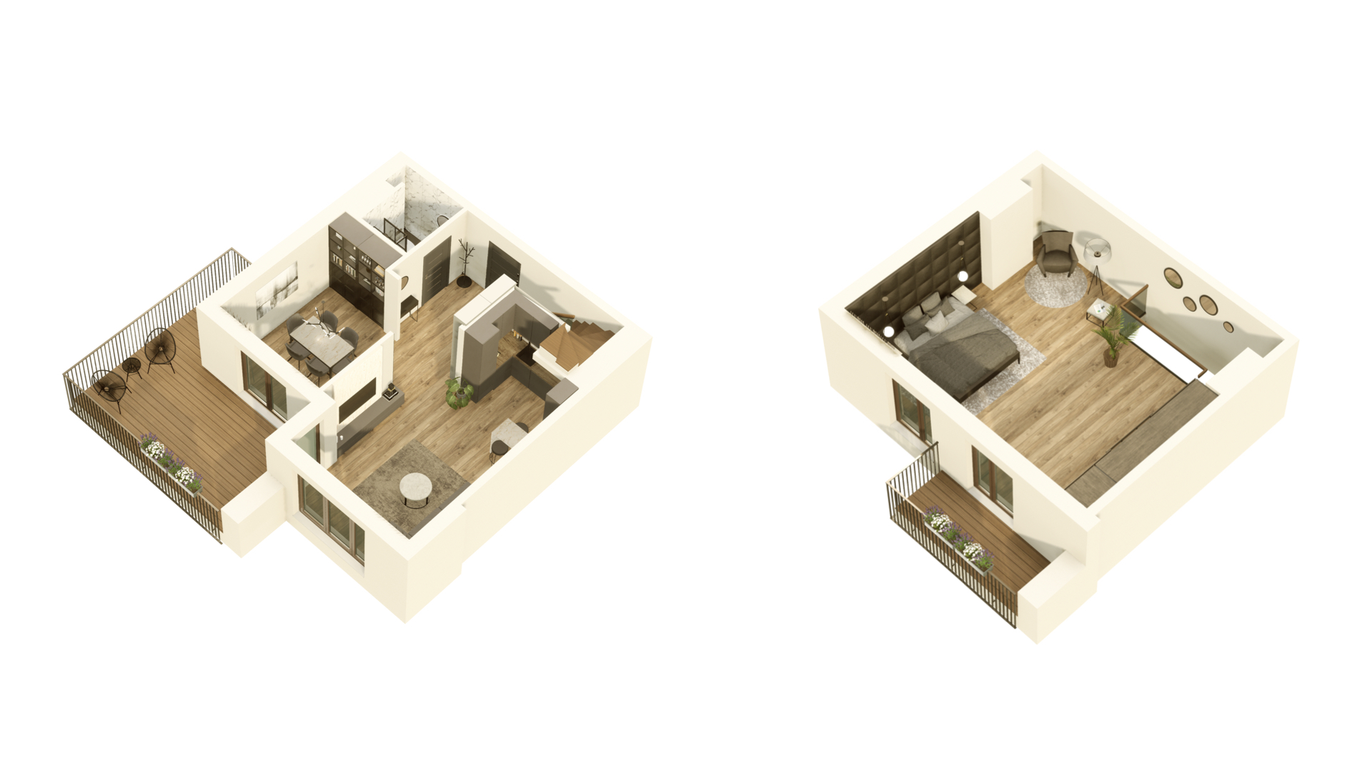 GARDINO PARK Mieszkanie 54 3D