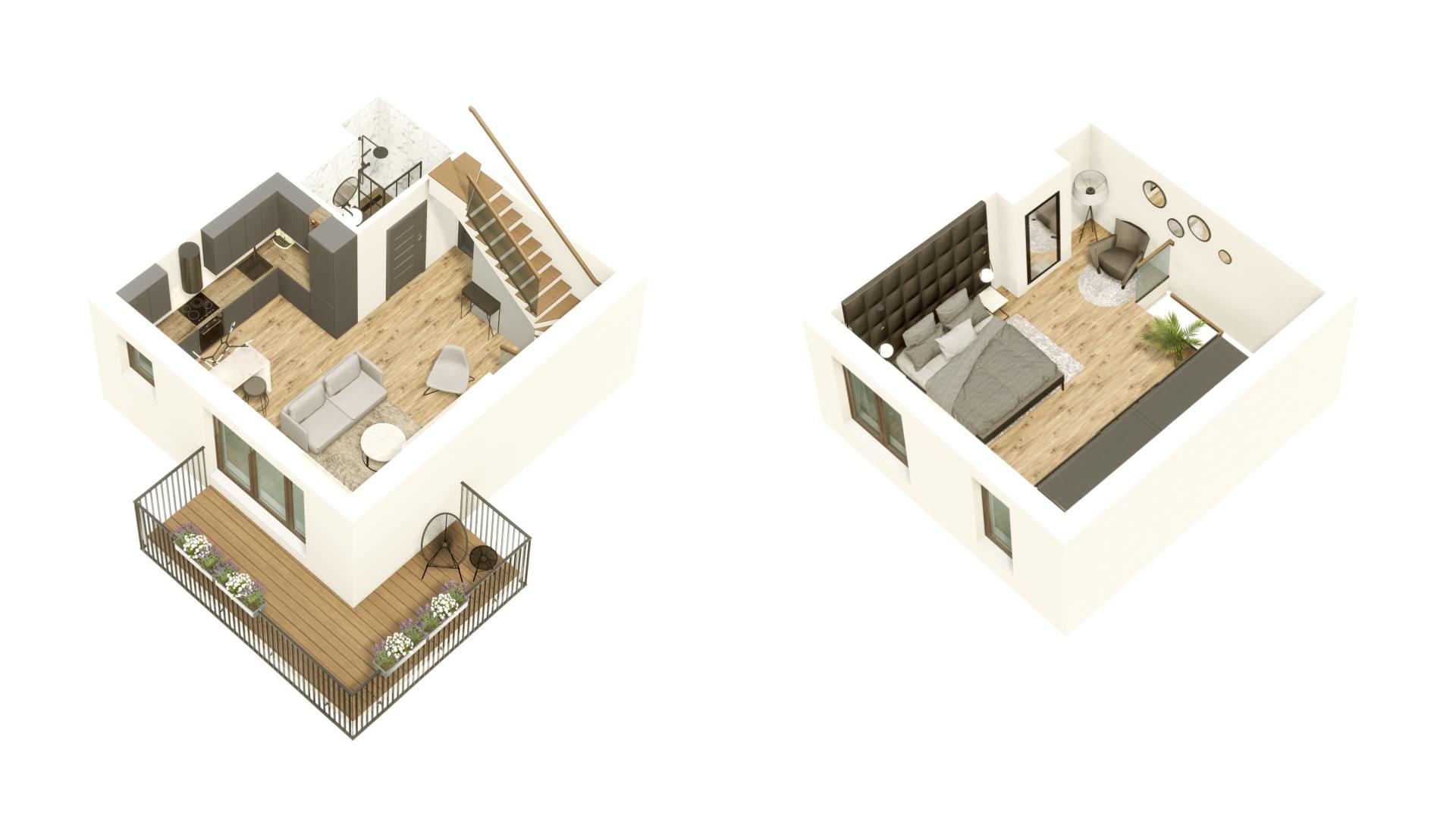 GARDINO PARK Mieszkanie 55 3D