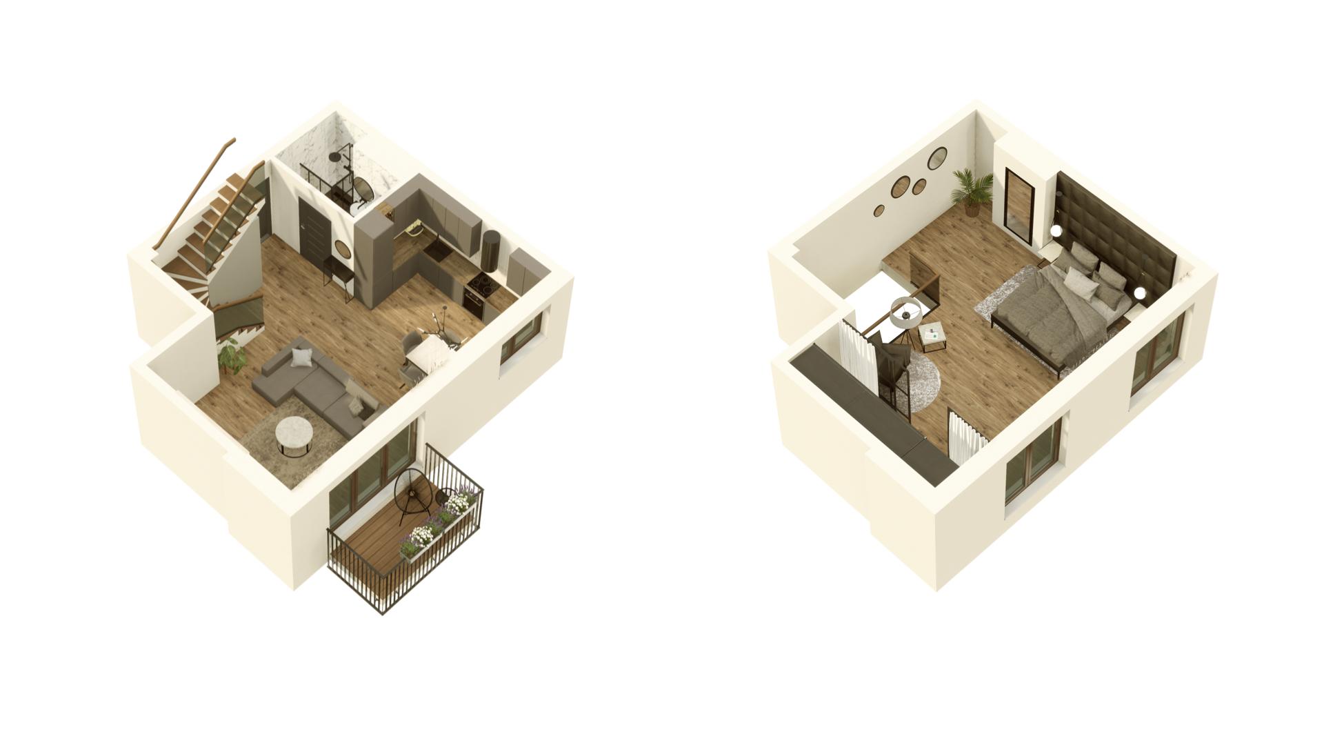 GARDINO PARK Mieszkanie 56 3D
