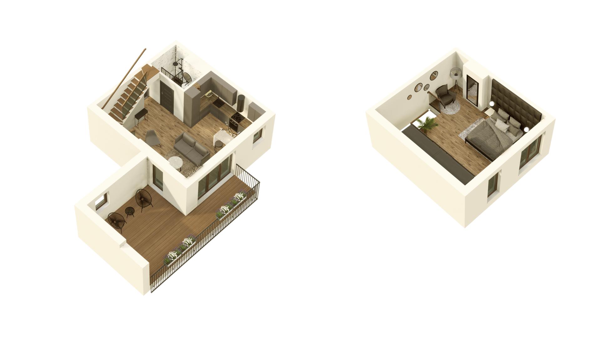 GARDINO PARK Mieszkanie 58 3D
