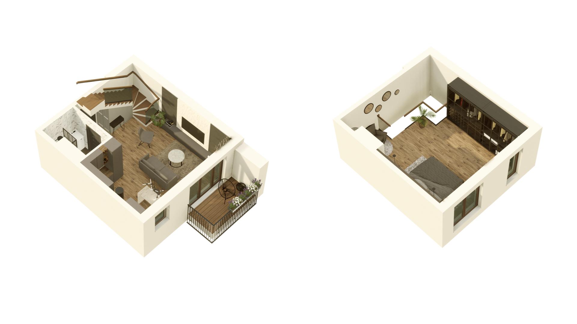 GARDINO PARK Mieszkanie 59 3D