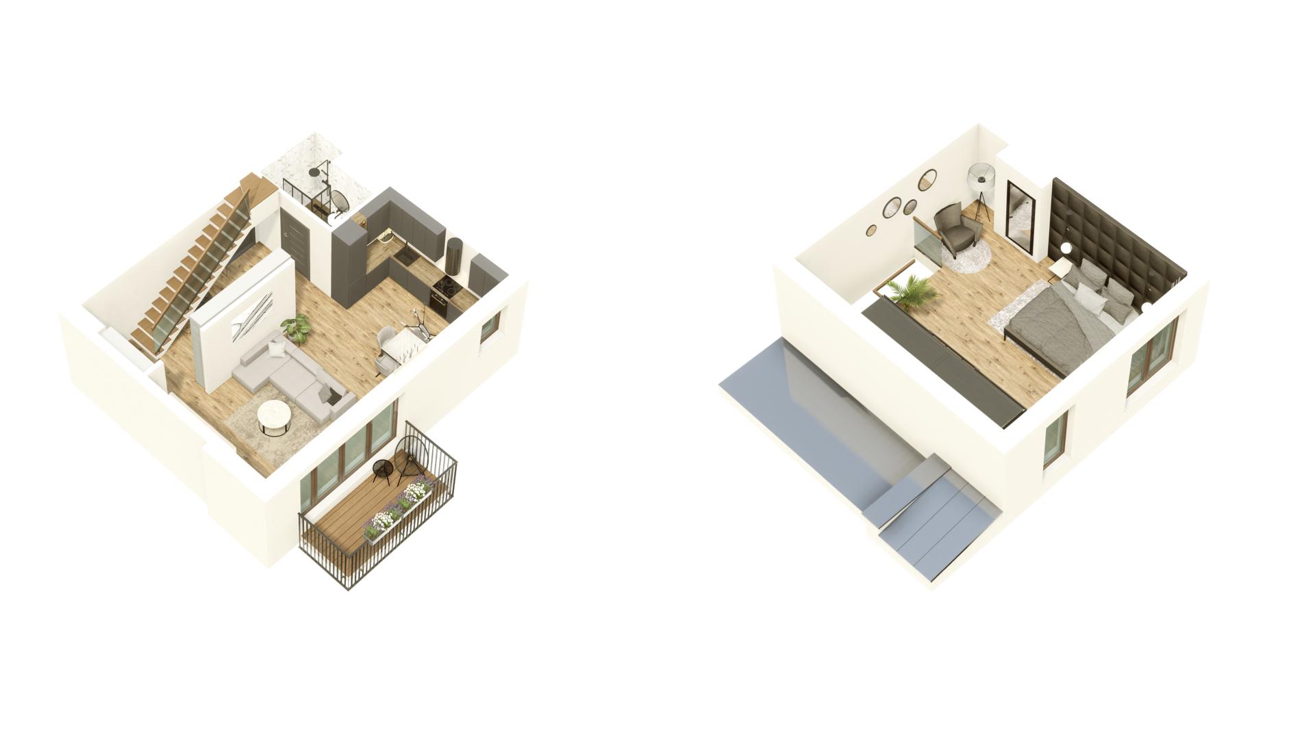 GARDINO PARK Mieszkanie 60 3D